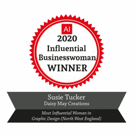 Winner of an Influential Businesswomen Award 2020 for Graphic Design (UK)